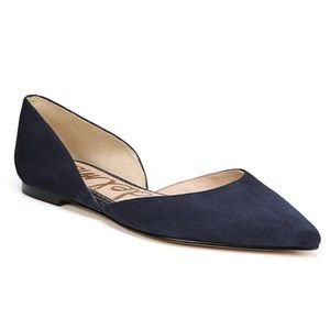 Sam Edelman Rodney Pointed Suede Leather Flats
